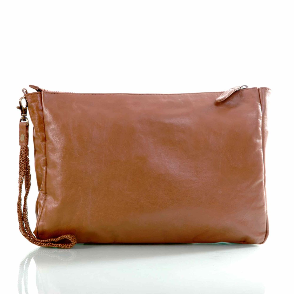 Diane carry-all pouch/chestnut