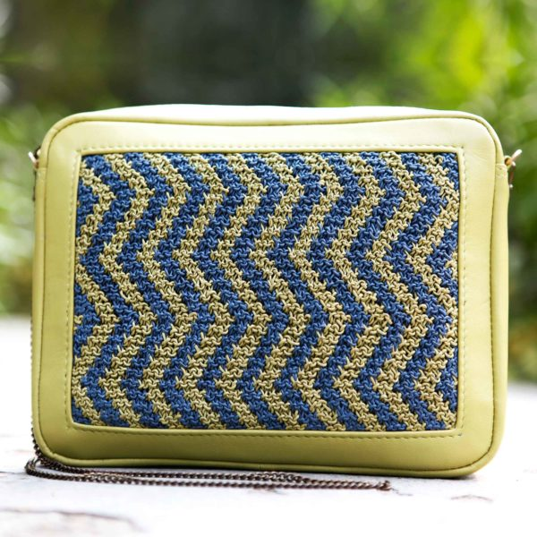 the twisted tale mini bag/blue and green