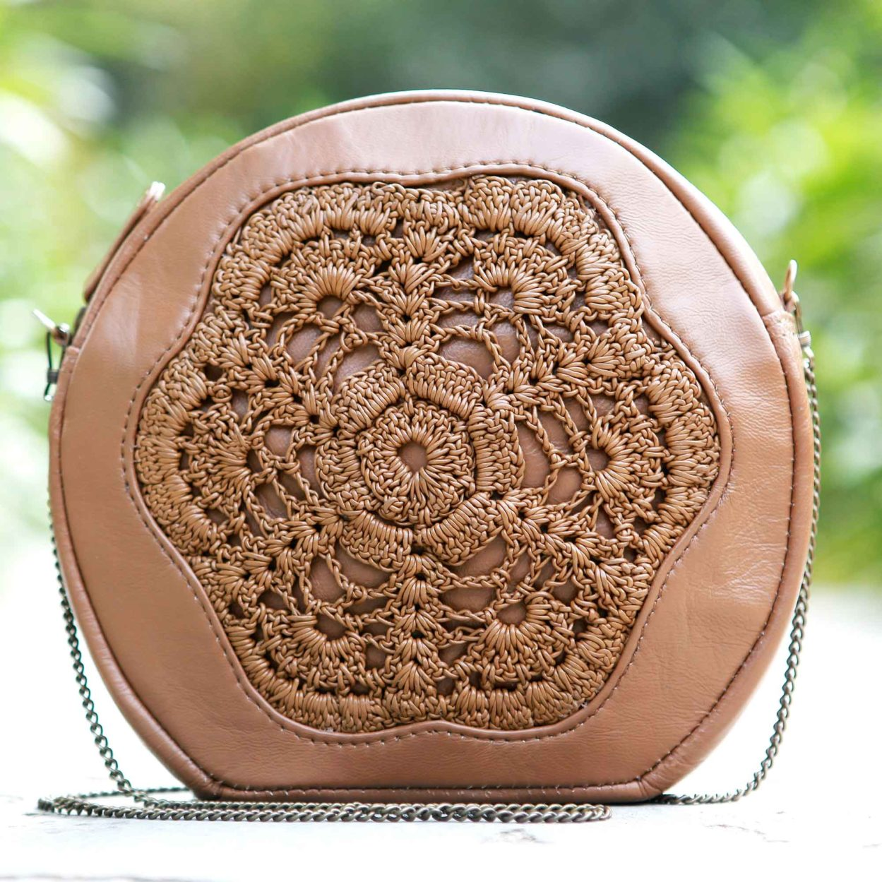 Karen mini bag/chestnut