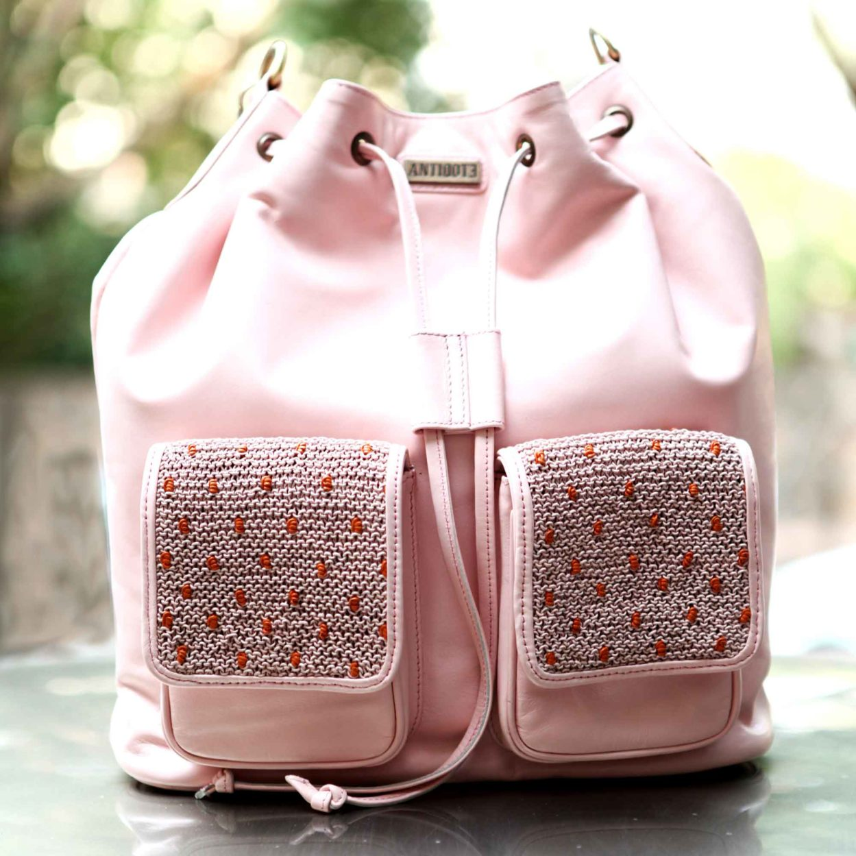 Pink Bubble Bucket Bag