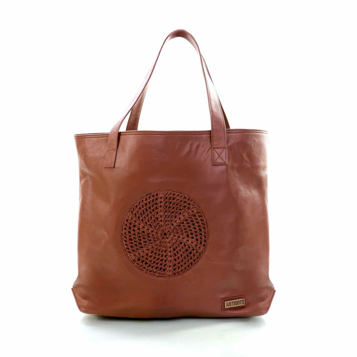 Brown Candid tote